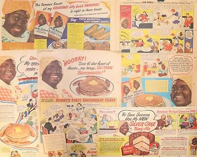 Aunt Jemima Pancake Mix - Five ads from the 1940s  - Black Americana
