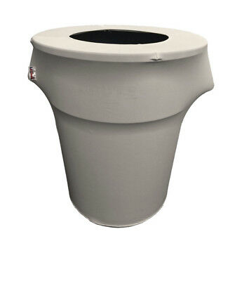 LA Linen Stretch Spandex Trash Can Cover 55 Gallon Round - Brand New