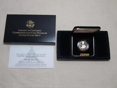2000-W Library of Congress $10 Commemorative - Bi-Metallic Platinum Gold - Proof
