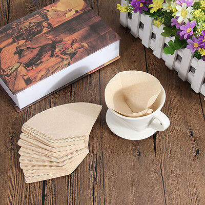 100Pcs Coffee Paper Filter for Coffee Hand-poured Coffee Filter Drip 2-4 Cup TEU