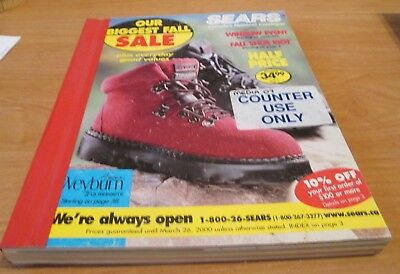 1999 Sears Catalog - Biggest Fall Sale - Hard Cover Counter Use Catalog