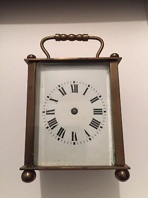 Vintage Mantel/ Carriage Clock. Spares Or Repair. French? In Need Of Some TLC