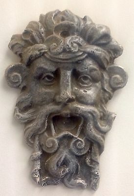 Antique Finished Greek Roman God Face Mask Wall Decor Zeus
