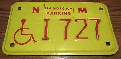 Vintage New Mexico Handicapped Parking Small License Plate
