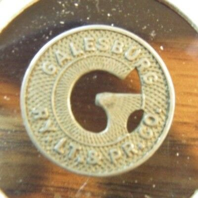 Very Old Galesburg, IL Ry. Lt. & Pr. Co. Transit Trolley Token - Illinois