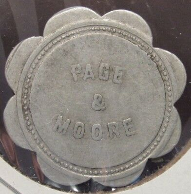 Very Old Page & Moore Buford, OH 5c Trade Token - Ohio