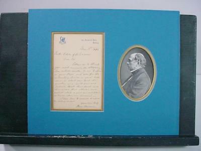 NobleSpirit NO RESERVE {3970}Henry Bessemer Signature on Letter w/Picture