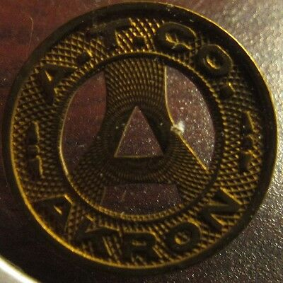 1936 A.T. Co. Akron, OH Transit Bus Token - Ohio