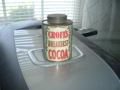 1900's Croft's Cocoa Empty Can Philadelphia PA Croft & Allen Co.  Strong Label