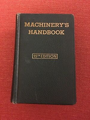 Machinery's Handbook 15th Edition, Leatherbound 1957, Good Condition!