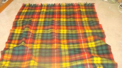 Pretty Primary Colors Wool Lap Blanket   No Tag