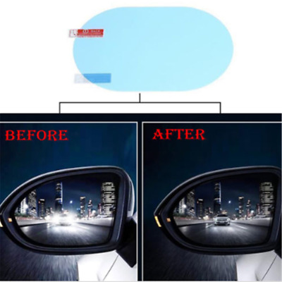 2PCS Rainproof Oval Car Auto Anti Fog Rear view Mirror Protective Film Accessory