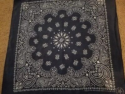 Vintage Bandana Blue RN 15187~ Made in U.S.A ~Hav-A-Hank~100% Cotton~Nice