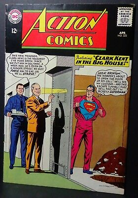 """Action Comics # 323-1965-""""clark Kent In The Big House!""""-Silver Age"""
