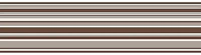 Chocolate Horizontal Stripe Peel Stick Wallpaper Border Self Adhesive Brown