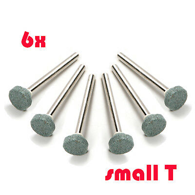 6x 3mm Small T Head Diamond Burrs Grinding Bits Carving Stone Tools