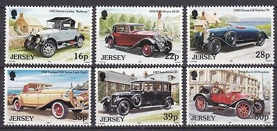 JERSEY 1992 VINTAGE CARS BELOW FACE VALUE (ref1) MINT NEVER HINGED
