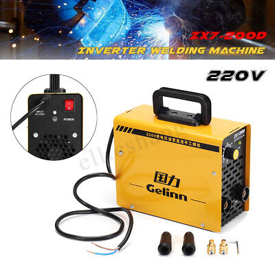 Welder Inverter 20-200Amp Welding Machine TIG ARC IGBT DC ZX7-200D 220V Portable