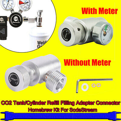 CO2 Tank/Cylinder Refill Filling Adapter Connector Homebrew Kit For SodaStream