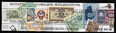 FINLAND BANK NOTES BOOKLET PANE (ref45) USED