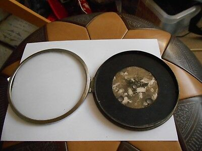 Vintage Mantle Clock Parts Glass Bezel And Dial