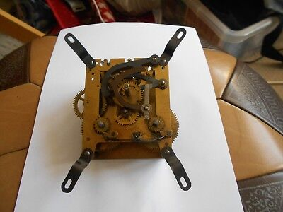Vintage Mantle Clock Parts . Clock Movement From Unknown Maker