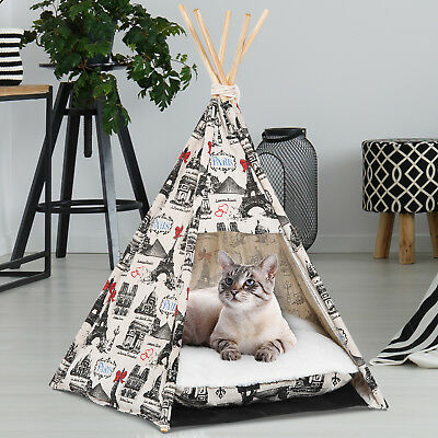 Portable Dog Cat Teepee Tent Puppy Pet Bed Small Animal House Playground