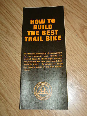 How to Build The Best Trail Bike Hodaka Motorcycle Brochure 1971