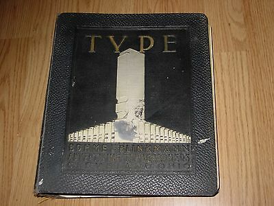 Vintage Bohme & Blinkmann Advertising Typographers Catalog type typography