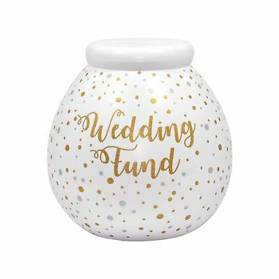 Pot Of Dreams Giant Wedding Fund Bright White Money Pot Saving Piggy Bank Gift