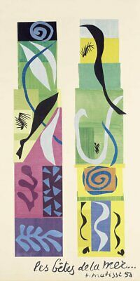 Beasts of the Sea by Henri Matisse Art Print Abstract Poster 38x19