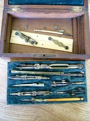 Good Quality Stanley London Antique Drawing Set Compass Dividers Technical Nr