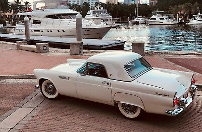 1955 Ford Thunderbird White new black Top Wire Wheels 12V AC 1955 Ford Thunderbird T Bird Convertible Hardtop $29,000 spent on updates NEW AC