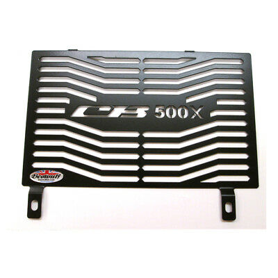 Honda CB500 X A (13-19) Black Stainless Steel Radiator Guard by Beowulf