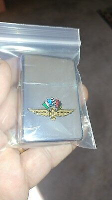 1994  Zippo Lighter high polish chrome Indianapolis 500 Wings New In Box