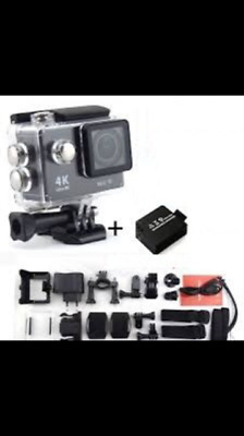 Sport Cam Action Camera 4K Wifi 16Mp Videocamera+Telecomando E Supporti