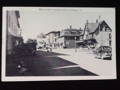 c1952 Main St. Looking South, Orleans, Vermont Vintage Postcard
