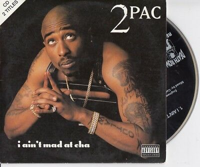 2PAC I Ain't MAD At Cha 2 TRACK 1996 CARDslv CD SINGLE DEATH ROW RECORDS TWOPACK