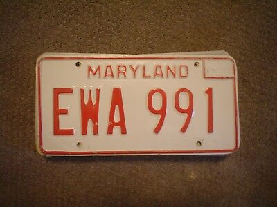 Maryland White    License Plate    Buy All States Here