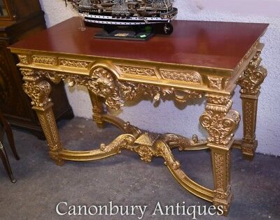 Louis XVI Gilt Console Table French Gilded Hall Tables