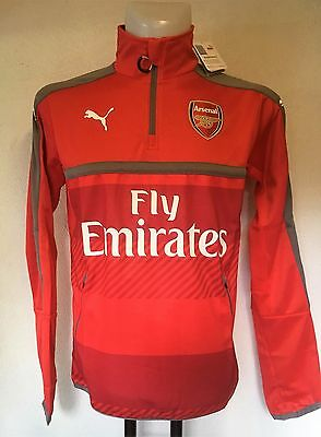 Arsenal 2016/17 Red 1/4 Zip Training Jacket By Puma Size Men's Medium Brand New