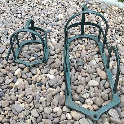 Antique Cast Iron Horse - Pony Harness Type Wall Rack  Brackets X Two