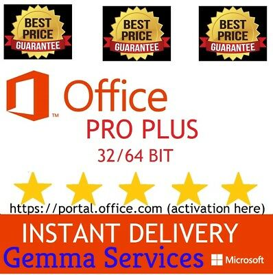 OFFICE 365/2016/2019 PRO PLUS LIFETIME 5 DEVICES 5TB Onedrive (NOT KEY - READ!)