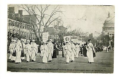 Suffragette Parade Moving Up Pennsylvania Ave. Washington, DC March 3, 1913