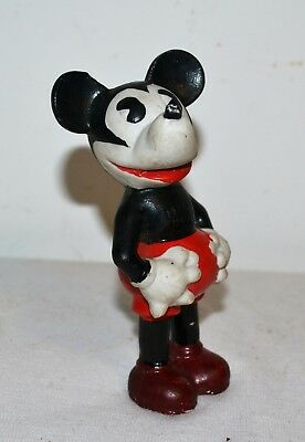 """Vintage Bisque MICKEY MOUSE Made in Japan 5"""" Figurine Figure"""