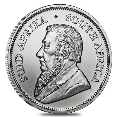 2018 One Ounce Silver Bu South Africa Krugerrand ~ Brand New ~ Free Shipping
