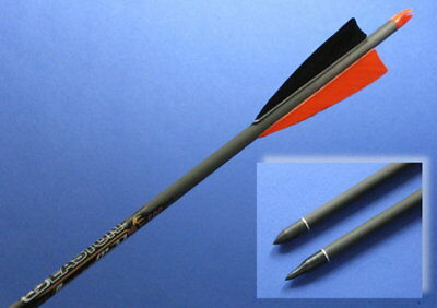 """6 Carbon-Pfeile EASTON POWER FLIGHT """"TRADITIONAL"""" Typ 500, 400 oder 340"""