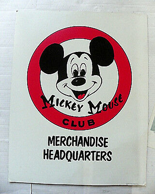 """Walt Disney Production """"mickey Mouse Club Merchanandise Headquarters"""" Poster"""
