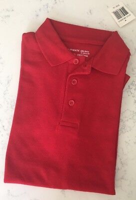 Authentic Galaxy School Uniform Polo Shirt - Red - Size 10 - Brand New!
