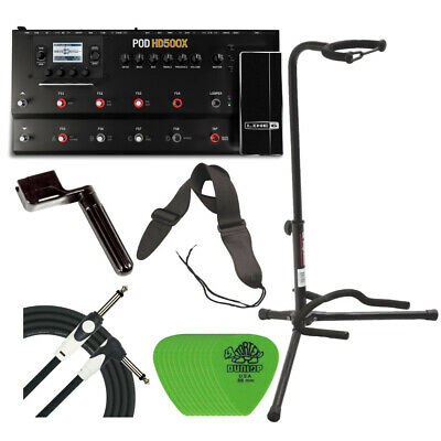 Line 6 POD HD 500X Multi-Effects Processor with Guitar Accessories Bundle
